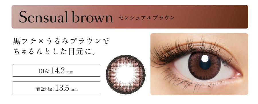 Loveil Aqua rich ラヴェール ワンデー 【Sensual brownセンシュアルブラウン】